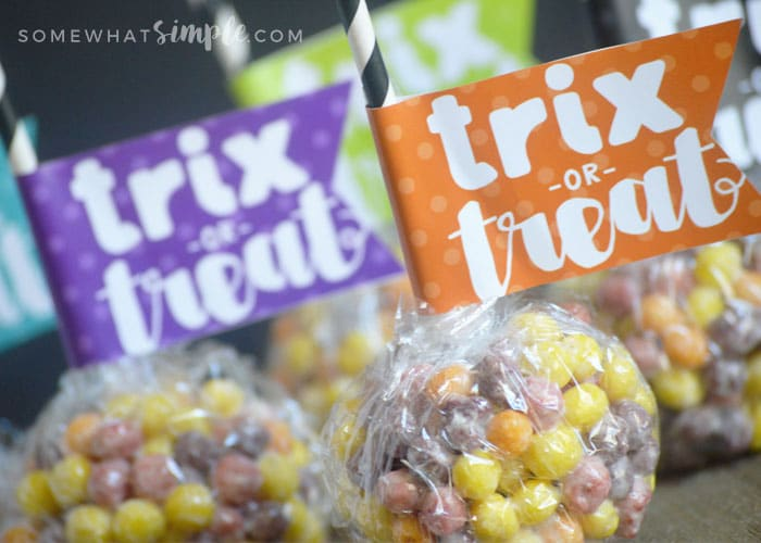 Trix or Treat labels