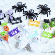 several different Halloween lollipops