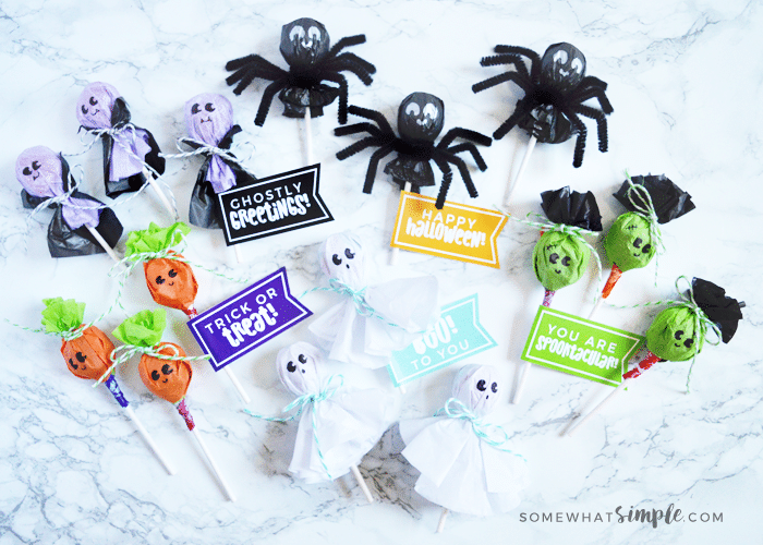 Candy Craft – Halloween Lollipops Tutorial + Printables