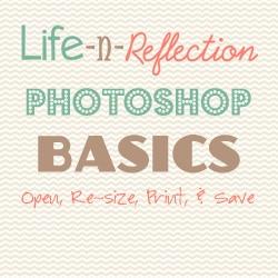 Photoshop Basics: Re-sizing Photos