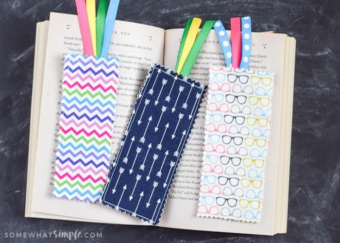 Scrap Fabric Bookmarks Tutorial