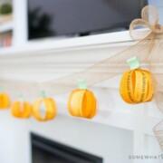 "DIY Fall Decorations - ""I Love You"" Fall Garland"