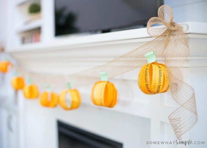 "DIY Fall Decorations – ""I Love You"" Fall Garland"