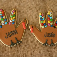 handprint turkey cookies 4