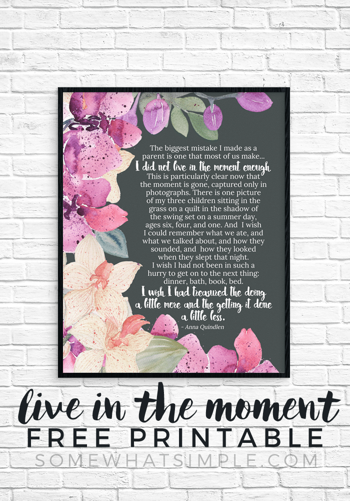 live in the moment portrait