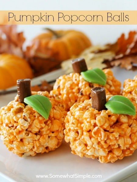 Halloween popcorn balls that are super easy to make