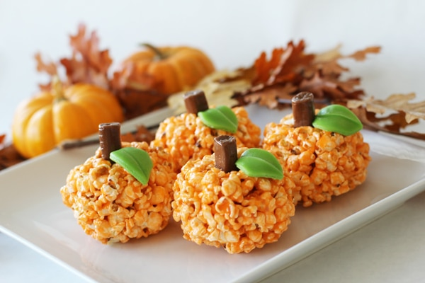 Orange Halloween popcorn balls