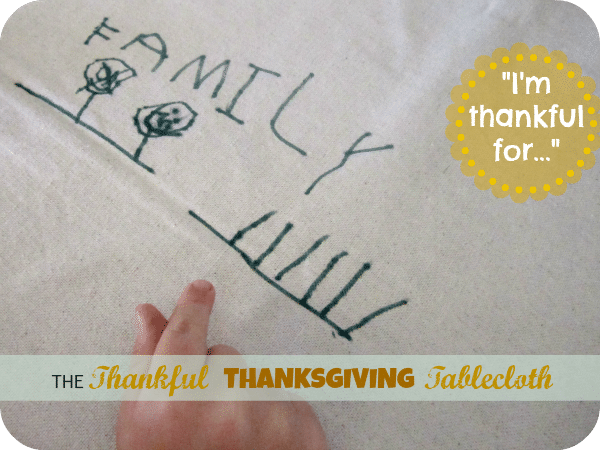 thankful thanksgiving tablecloth