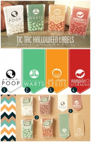 tic tac halloween label