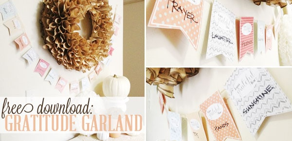 thanksgiving craft: gratitude garland free download