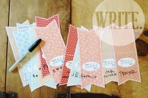 gratitude garland write