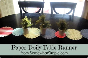paper doily table runner