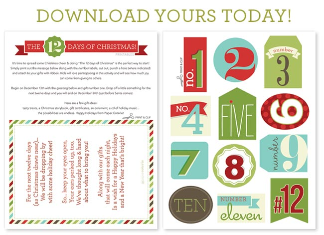 graphic relating to 12 Days of Christmas Printable Tags identify 12 Times of Xmas Tags Cost-free Printable Relatively Easy