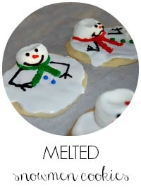 7 melted snowman cookies