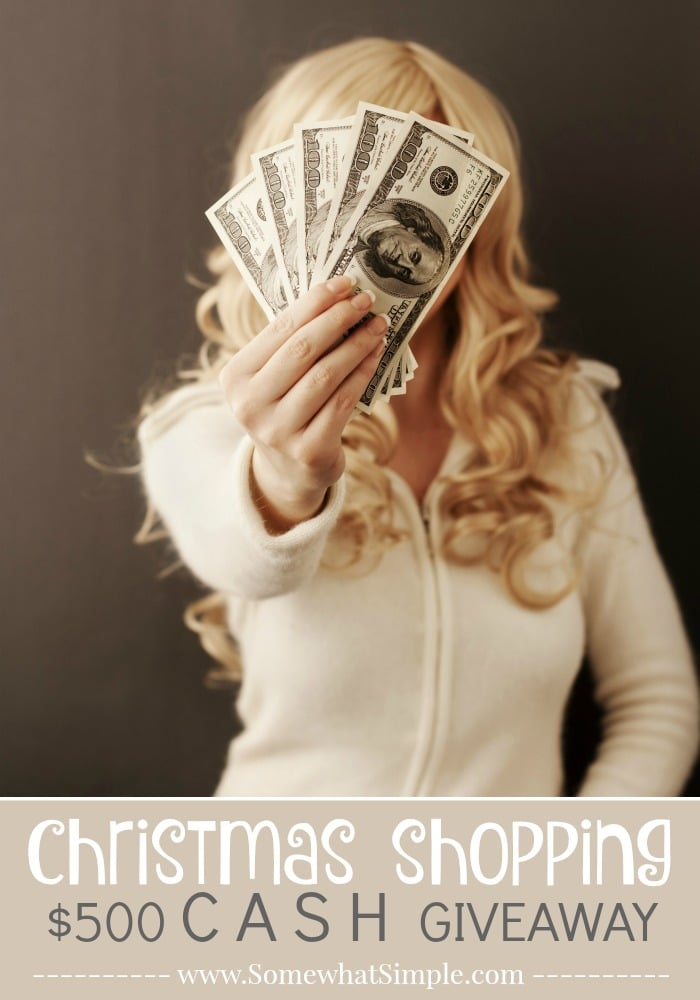 All I Want for Christmas Shopping Cash Giveaway