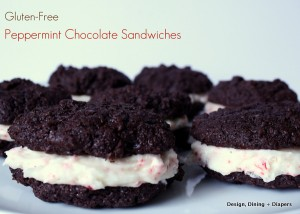 Peppermint Chocolate Sandwiches by Design, Dining + Diapers
