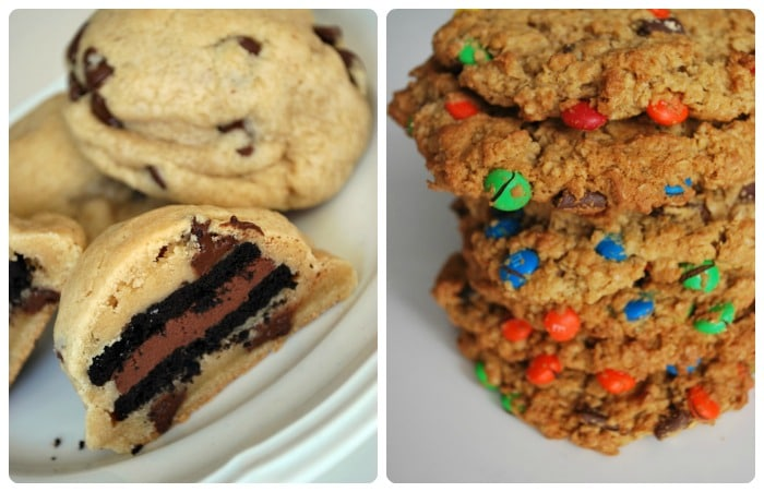 Oreo Stuffed Chocolate Chip Cookies // Monster Cookies