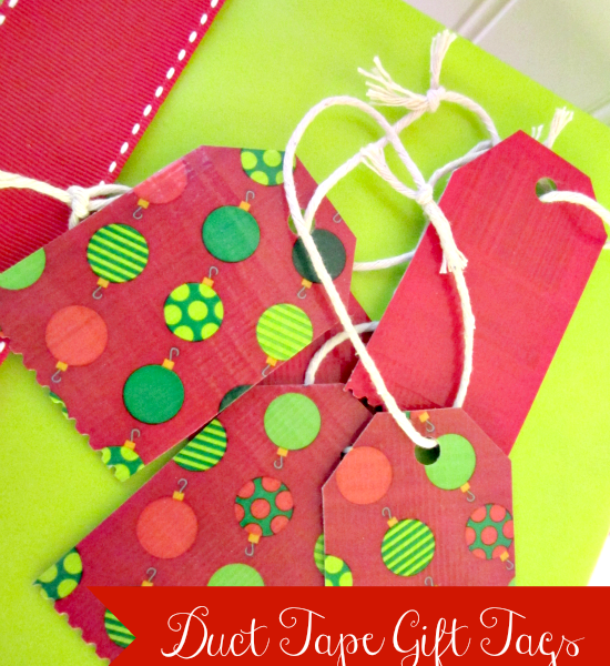 duct tape gift tags