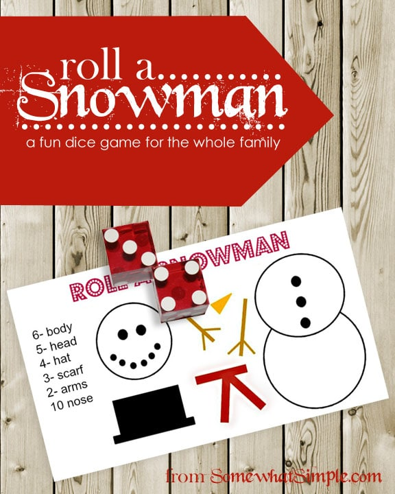 Christmas Family Party Games: Snowman Dice Game- Family Fun For Everyone