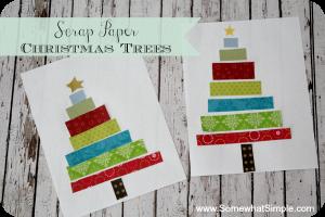scrap paper christmas trees