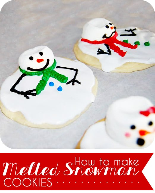 Snowman Cookies Recipe: Melted Snowman Cookies