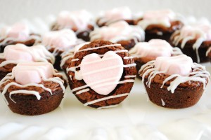 Heart Brownie Bites by A Pumpkin and a Princess