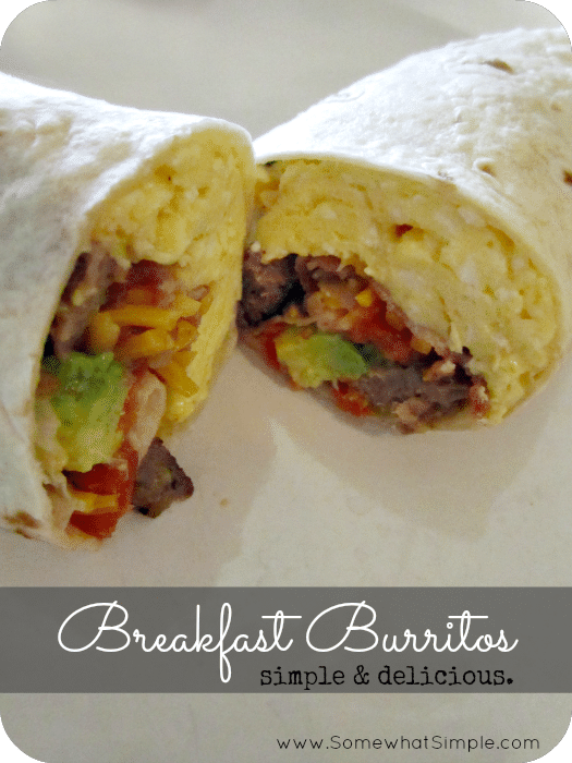 """breakfast burritos"" to their meal rotation! We had a breakfast ..."