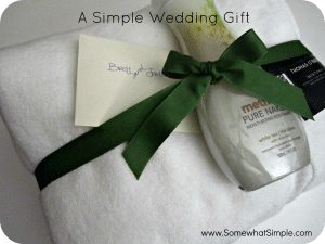 A Real Simple Wedding Gift