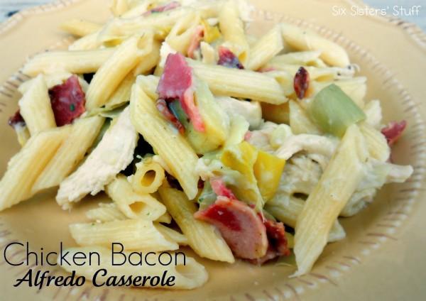 Chicken Bacon Alfredo Casserole