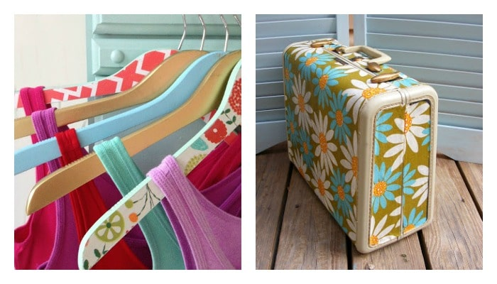 clothes hanger and suitcase Mod Podge ideas