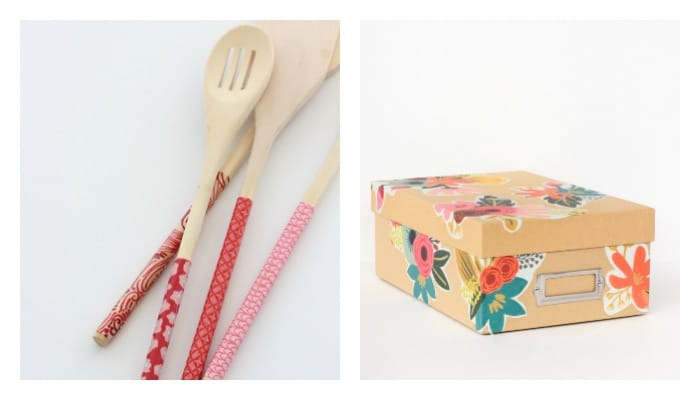 wooden spoon and photo box Mod Podge crafts