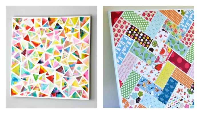 DIY wall art Mod Podge projects