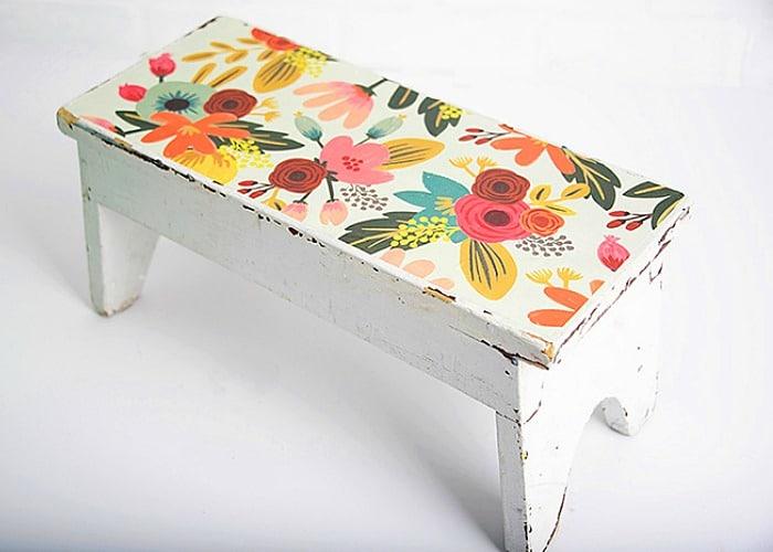 decorative bench Mod Podge Ideas