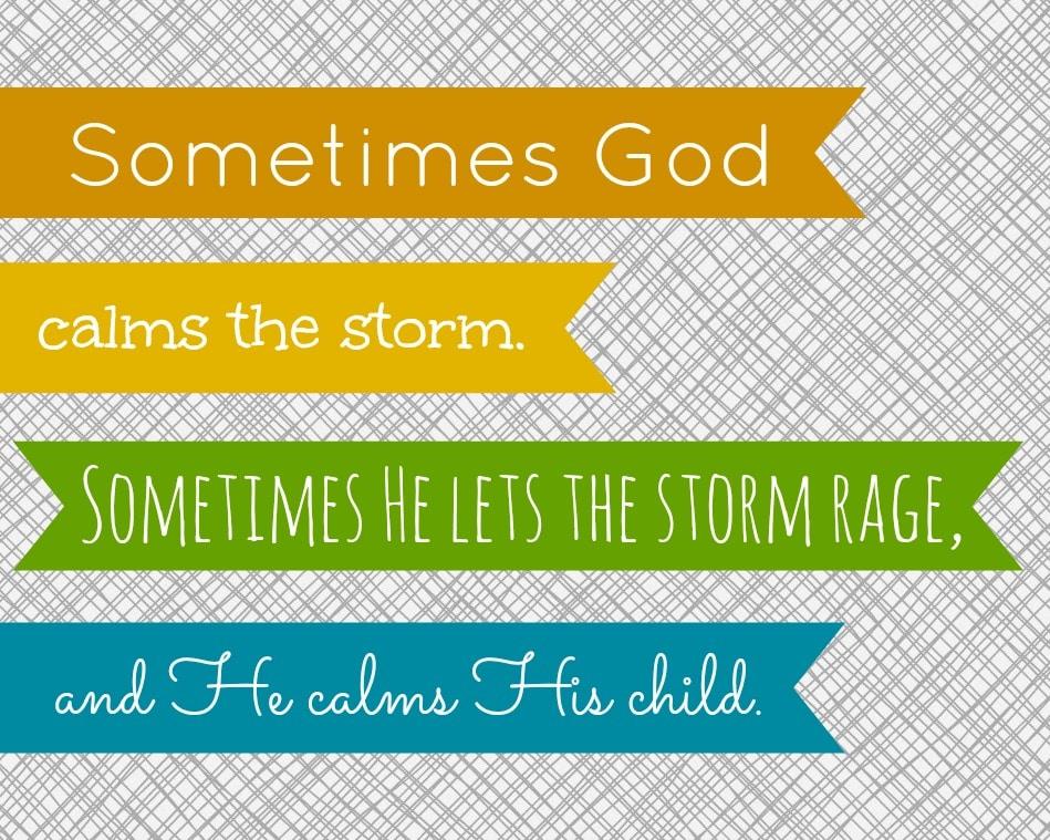 Sometimes God