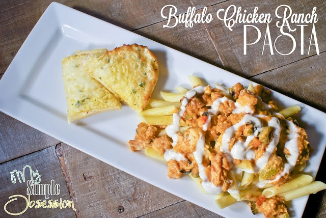 buffalo chicken ranch pasta