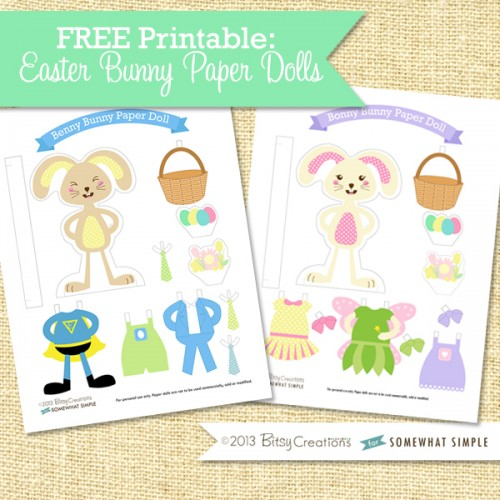 movable easter bunny paper doll free printable easter bunny paper dolls from somewhat simple 6940