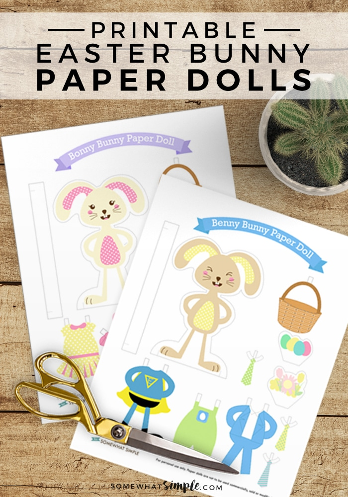 We can't get enough of these Easter Bunny Printable Paper Dolls! So adorable, the kids are going to love our Benny and Bonny Bunnies!