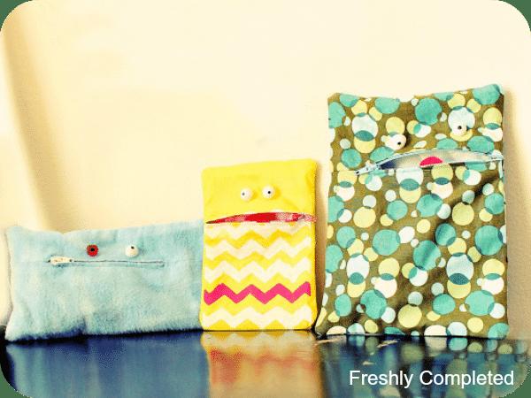 sewing tutorial monster bags