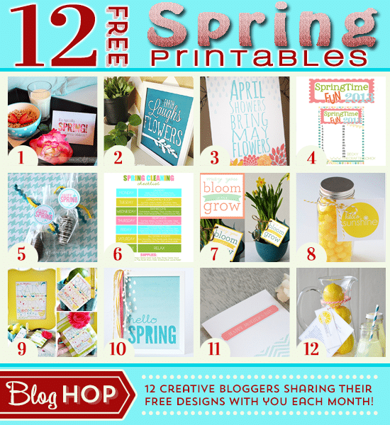 The Earth Laughs In Flowers FREE Spring Printable + an Amazing Blog Hop