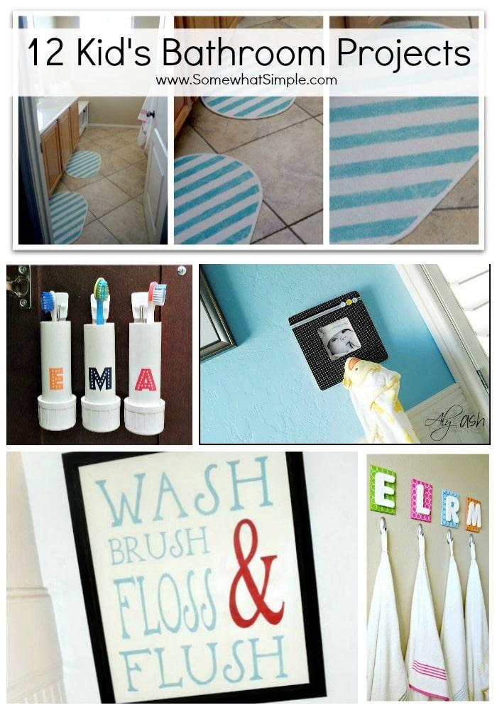 Splish splash 12 kid 39 s bathroom projects somewhat simple - Simple kids bathroom ...