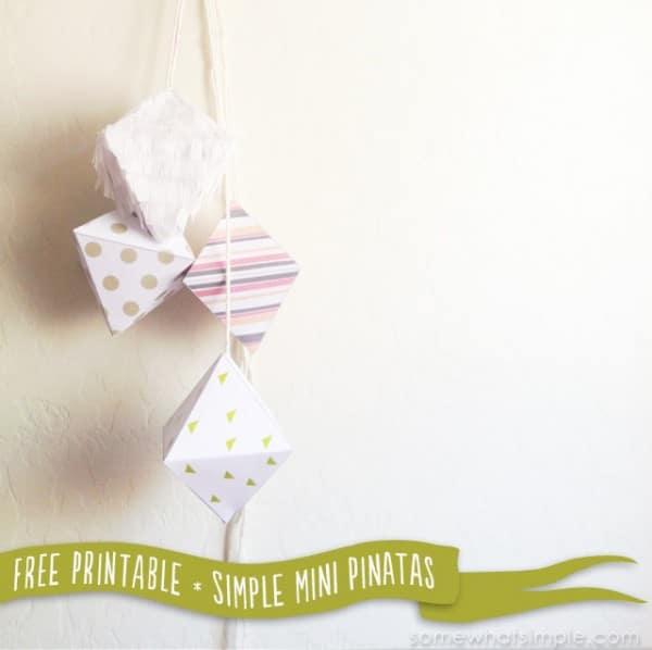 simple mini pinata free printable