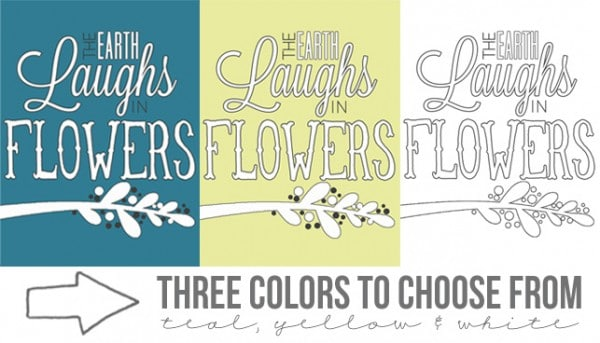 the earth laughs in flowers 3 colors