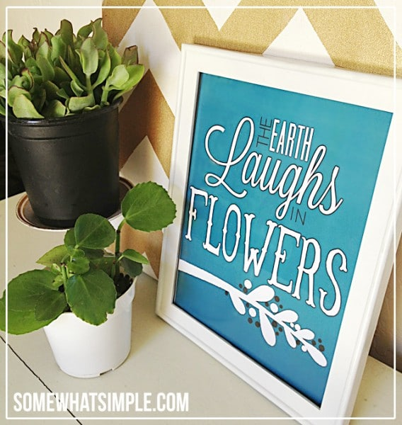 the earth laughs in flowers free spring printable