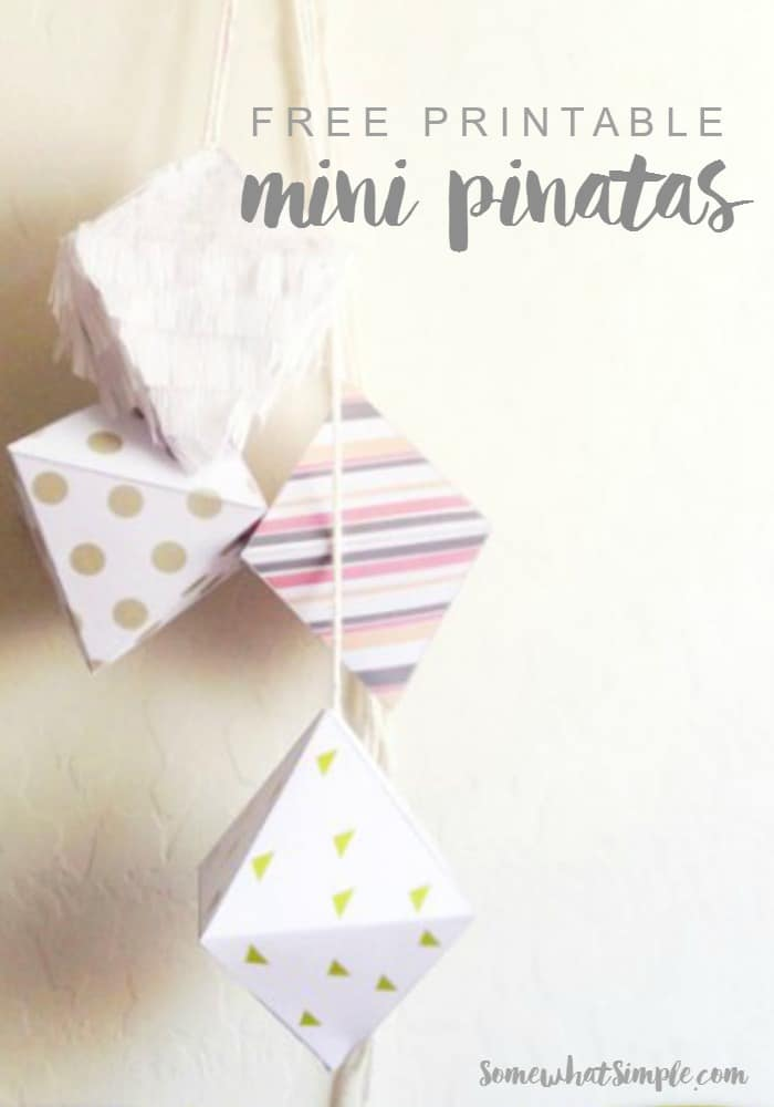 picture relating to Donkey Pinata Template Printable referred to as very simple mini pinatas + 12 cinco de mayo totally free printables