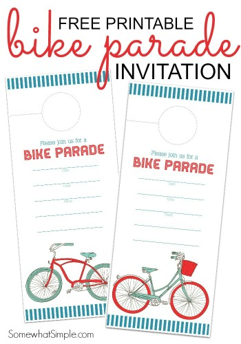 Fourth of July Bike Parade Invitation