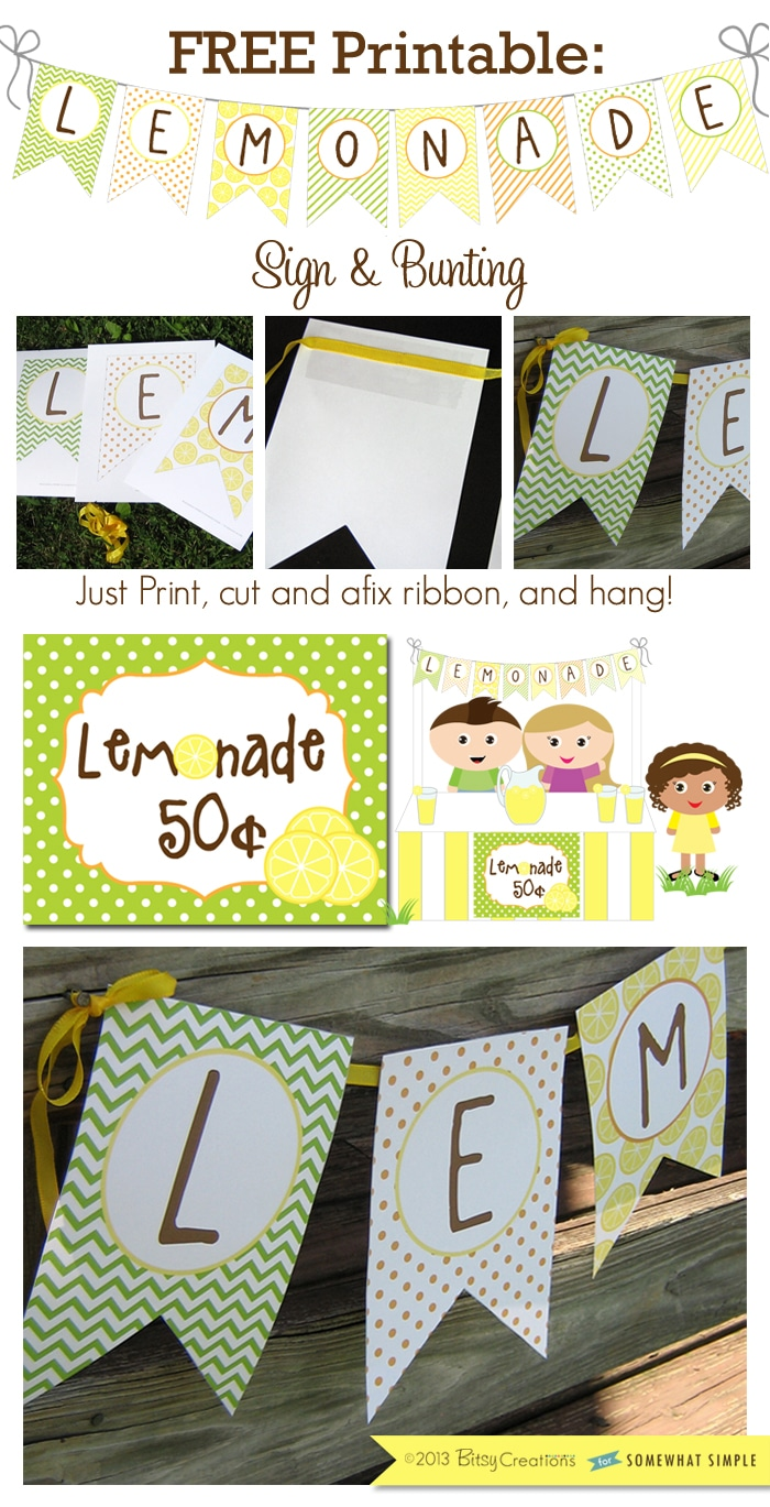 Lemonade Stand Sign Free Printable Cute Idea By Somewhat Simple