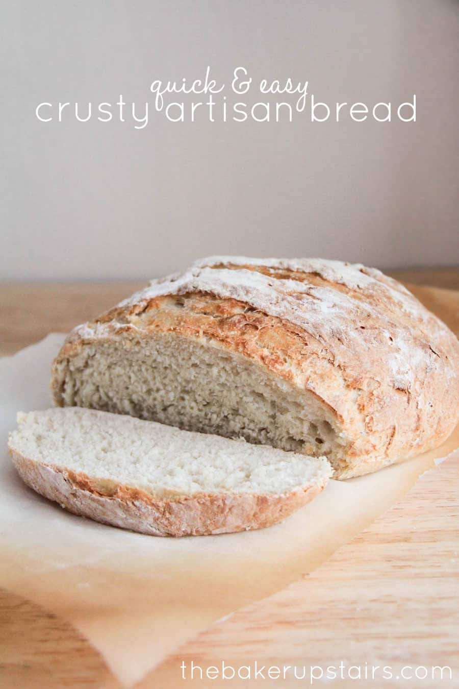 Quick and Easy Crusty Artisan Bread - Somewhat Simple