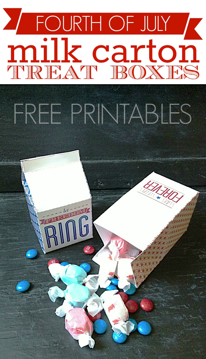 fourth of july milk carton treat boxes pinterest