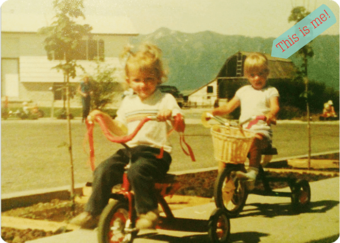 Our bike parade in the early 80's