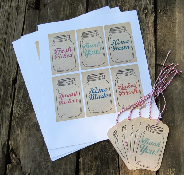 Free printables mason jar gift tags somewhat simple free printable mason jar tags negle Choice Image